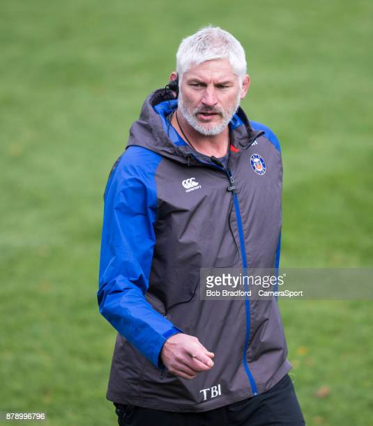 Bath Rugby's Head Coach Todd Blackadder during the Aviva Premiership match between Bath Rugby and Harlequins at Recreation Ground on November 25 2017...