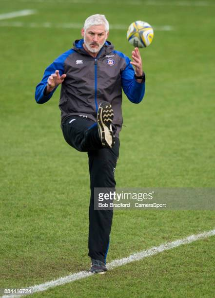 Bath Rugby's Head Coach Todd Blackadder during the Aviva Premiership match between Exeter Chiefs and Bath Rugby at Sandy Park on December 2 2017 in...