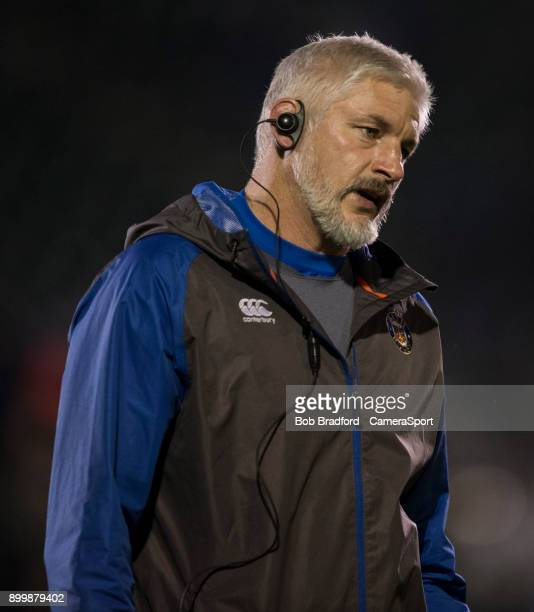 Bath Rugby's Head Coach Todd Blackadder during the Aviva Premiership match between Bath Rugby and Wasps at Recreation Ground on December 29 2017 in...