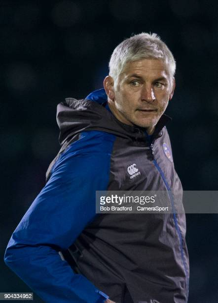 BATH ENGLAND JANUARY Bath Rugby's Head Coach Todd Blackadder during the European Rugby Champions Cup match between Bath Rugby and Scarlets at...