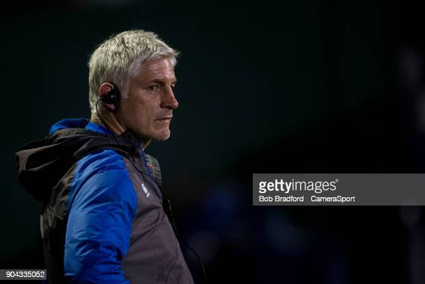 Bath Rugby's Head Coach Todd Blackadder during the European Rugby Champions Cup match between Bath Rugby and Scarlets at Recreation Ground on January...