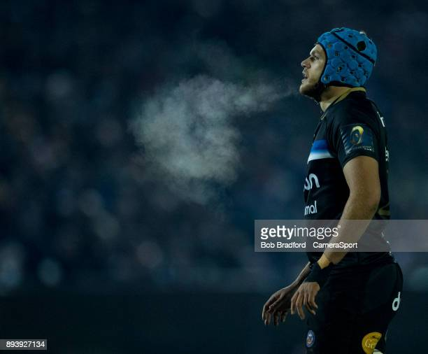 Bath Rugby's Zach Mercer during the European Rugby Champions Cup match between Bath Rugby and RC Toulon at Recreation Ground on December 16 2017 in...