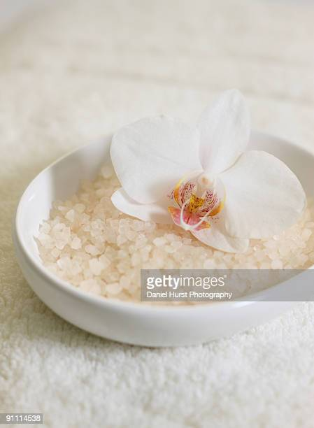 Bath salts and orchid
