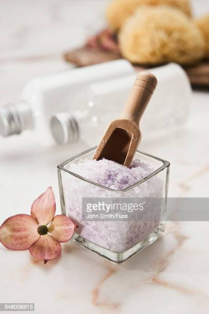 bath salts and scoop - greedy smith stock pictures, royalty-free photos & images