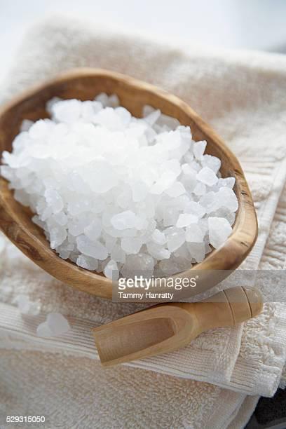Bath salts in bowl