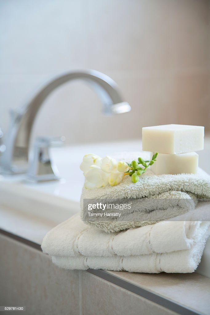 Bath supplies : Stock Photo