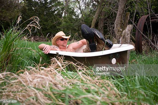 bath time series - redneck stock photos and pictures
