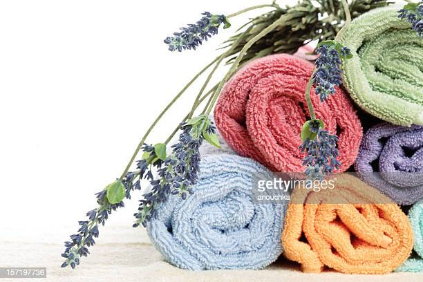 Bath Towels with Lavender