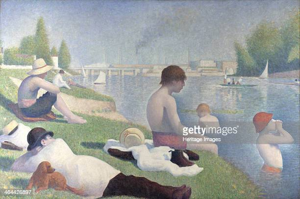 Bathers at Asnières 1884 Found in the collection of the National Gallery London