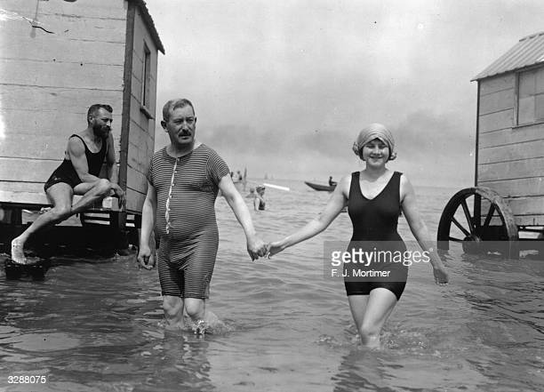 Bathers at Ostend in Belgium