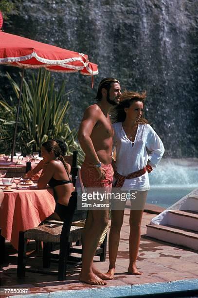Bathers at the Marbella Club Marbella Spain September 1970