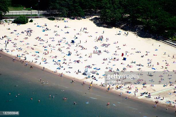 bathers on beach - ken ilio stock pictures, royalty-free photos & images