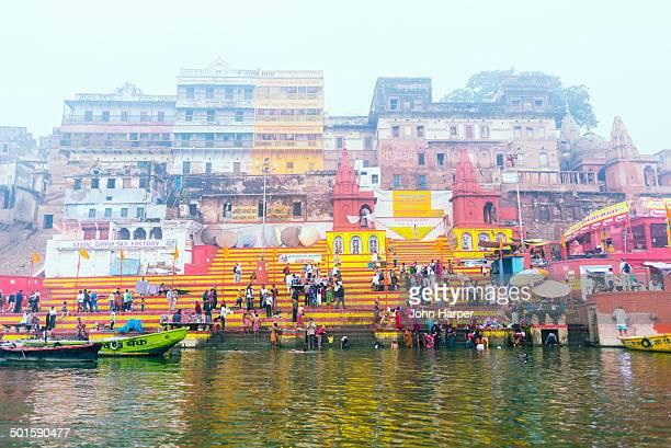 Bathers on River Ganges, Varanasi, India