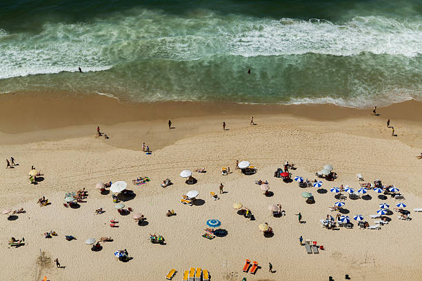 Bathers on the beach of Ipanema