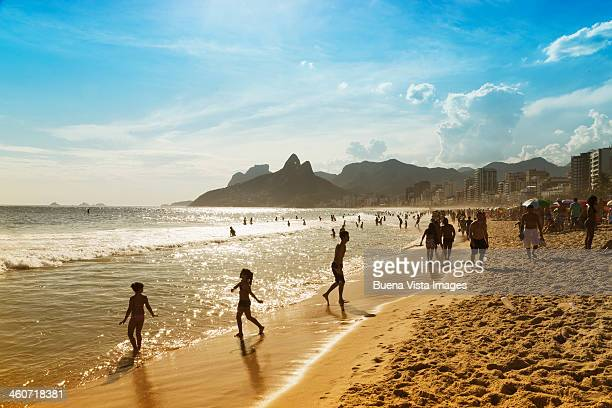 Bathers on the beach of Ipanema
