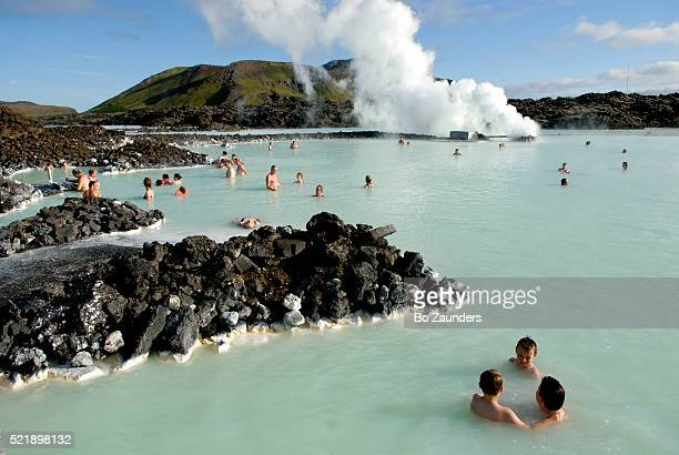 Bathers Relaxing in the Blue Lagoon
