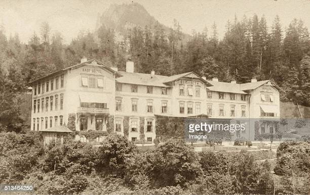 BathHotel Elisabeth Aussee Circa 1885 Carte De Visite Photograph By Michael Moser