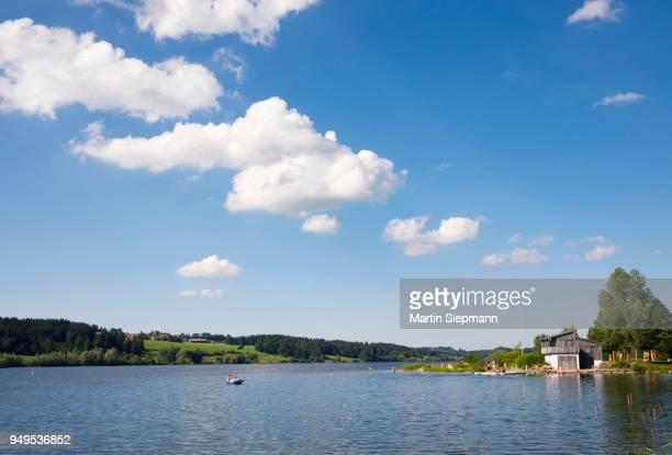 Bathing area, Petersthal am Rottachsee, Oy-Mittelberg, Allgaeu, Swabia, Bavaria, Germany