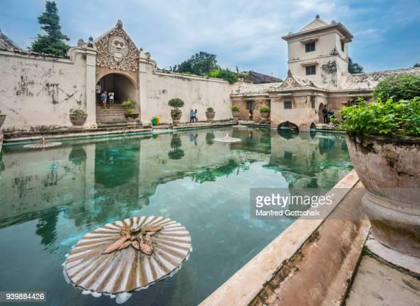 bathing complex taman sari water castle, yogyakarta - kraton stock pictures, royalty-free photos & images