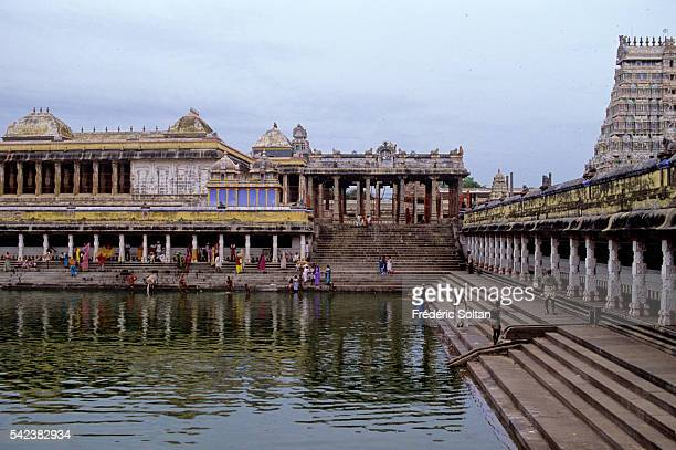 Bathing ghat in the temple dedicated to Lord Shiva as Nataraja his form of the cosmic dancer