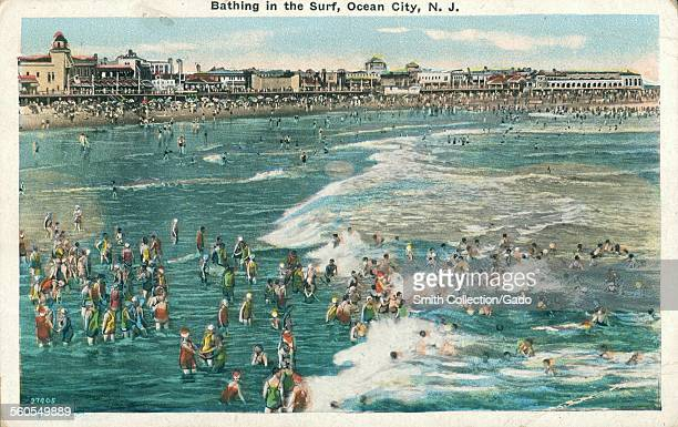 Bathing in the Surf Ocean City New Jersey 1926