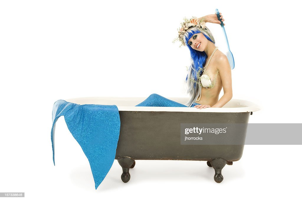 Bathing Mermaid : Stock Photo