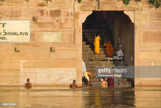 bathing - ghat stock pictures, royalty-free photos & images