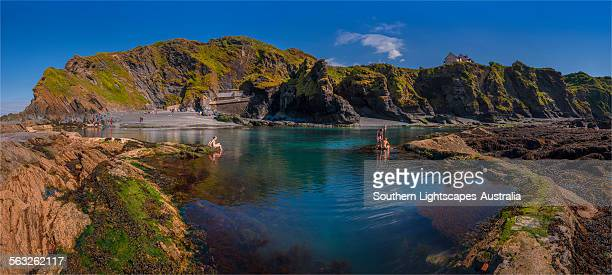 bathing sea pool ilfracombe - ilfracombe stock photos and pictures