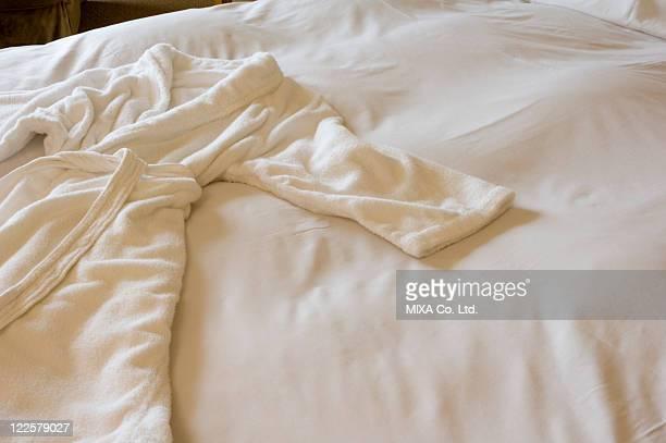 Bathrobe on bed