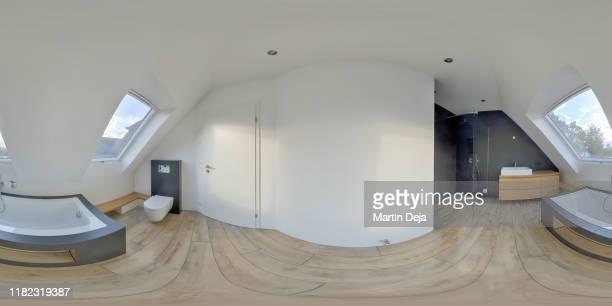 bathroom 360° hdr panorama - hdri 360 ストックフォトと画像