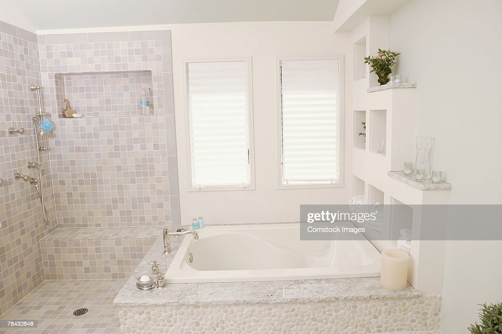 Bathroom , bathtub : Stockfoto