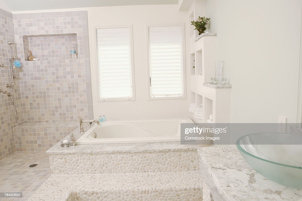 Bathroom , bathtub : Stockfoto