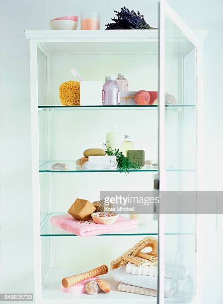 Bathroom Cabinet with Beauty Care Accessories