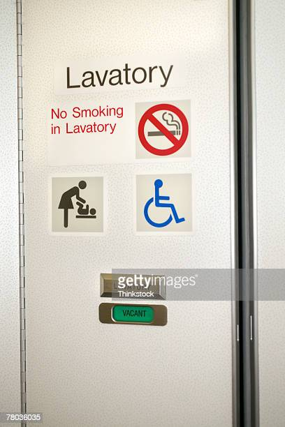 Airplane Bathroom Stock Photos And Pictures Getty Images