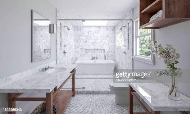 badrum i nytt lyxigt hem - bidé bildbanksfoton och bilder