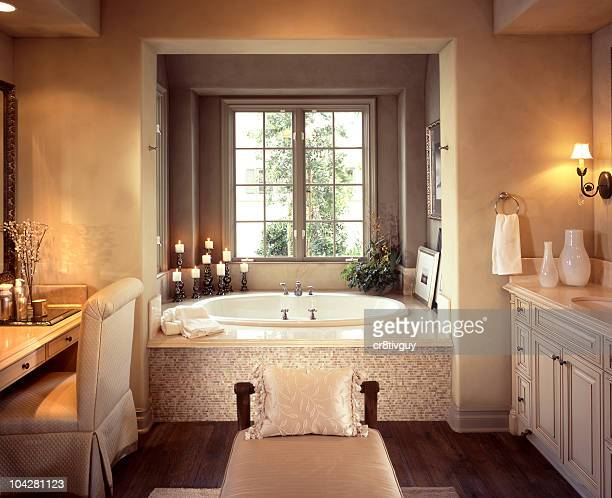 bathroom interior home design - bathroom stock photos and pictures