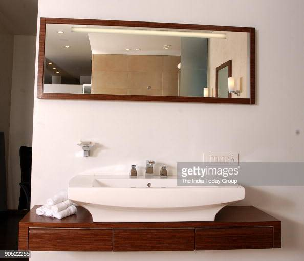 A bathroom item with sensor touch mirror at Villeroy and