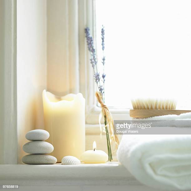 bathroom objects - candle stock pictures, royalty-free photos & images