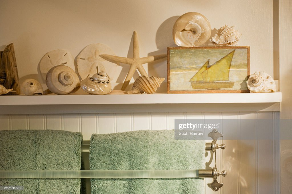 Bathroom of summer cottage : Stockfoto