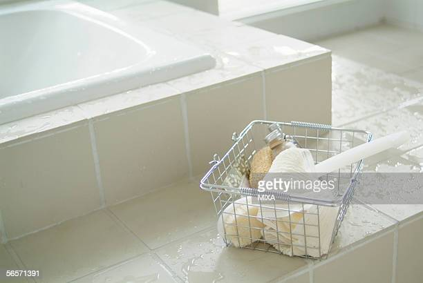 bathroom - loofah stock photos and pictures