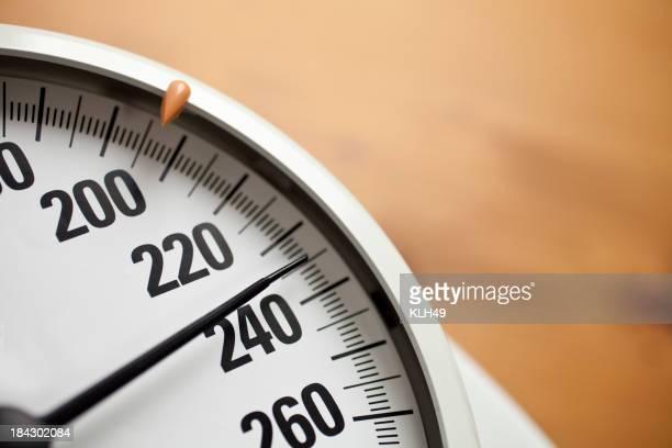 Waage im Badezimmer und Gewichtszunahme