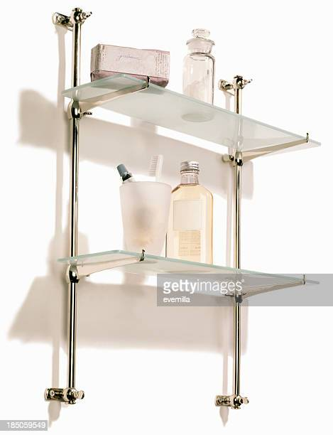 Bathroom Shelf with Products
