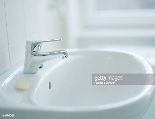A bathroom sink