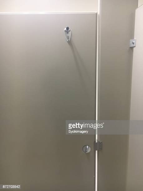 bathroom stall door - public restroom stock pictures, royalty-free photos & images
