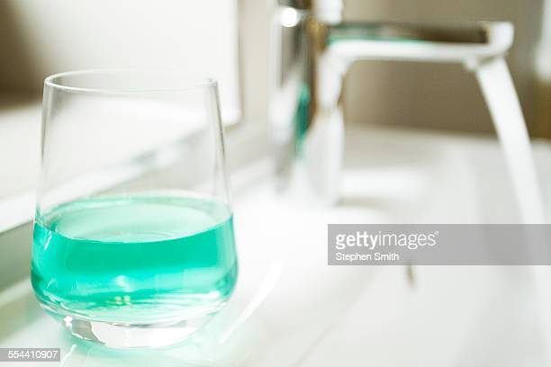 bathroom still life - mouthwash stock pictures, royalty-free photos & images