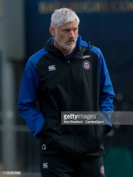 Bath's Head Coach Todd Blackadder during the Gallagher Premiership Rugby match between Bath Rugby and Newcastle Falcons at Recreation Ground on...