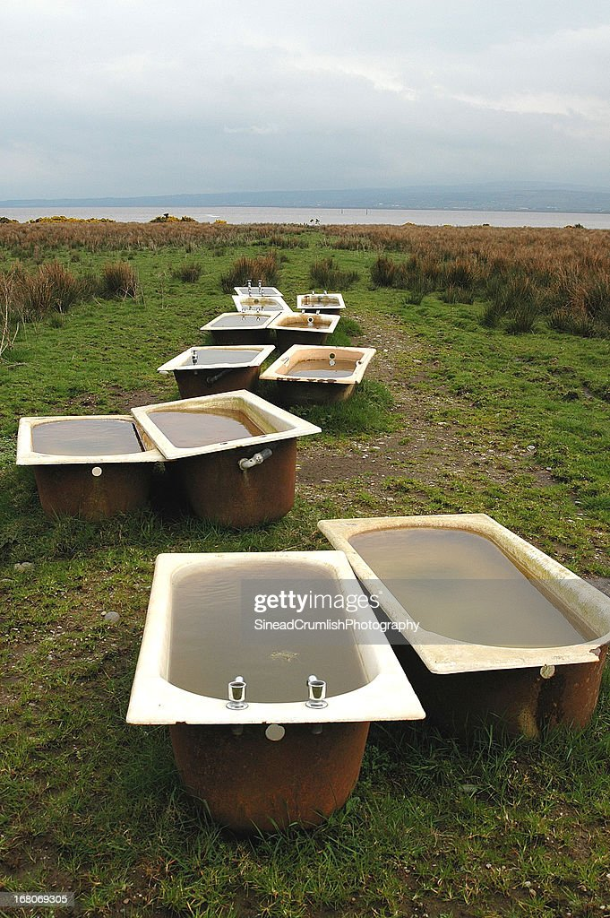 Baths in a Field : Stock Photo