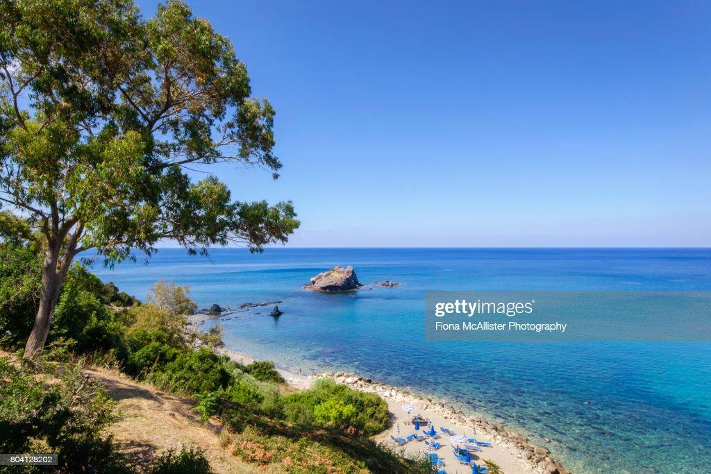 Baths of Aphrodite Beach, Latchi, Cyprus : ストックフォト