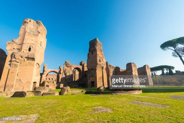 baths of caracalla - ancient rome stock pictures, royalty-free photos & images