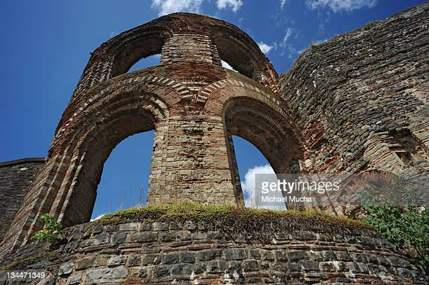 baths of caracalla, trier, rhineland-palatinate, germany, europe - michael mucha stock-fotos und bilder